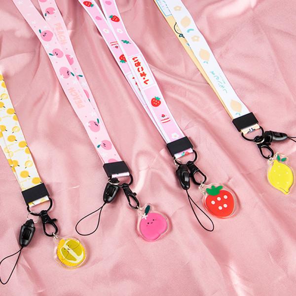 skalnail söt fruktband för nycklar söt citron telefonremmar id