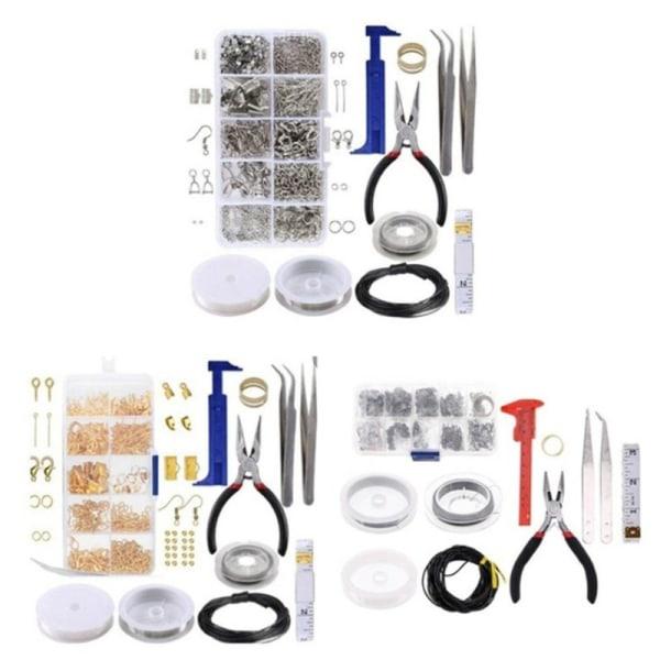 smycken verktygssats hoppring / hummerlås / örhänge krokar / för DIY Gold set