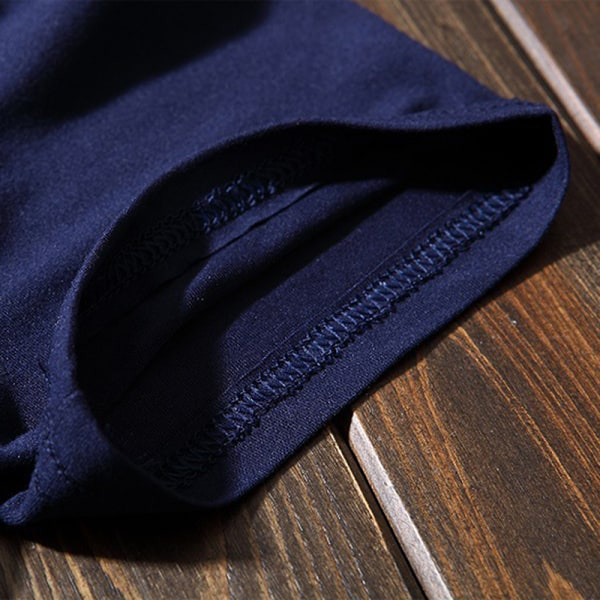 Mjuk Slim T-shirt Herr Plain Tee Standard Blank T-shirt Svart Whi