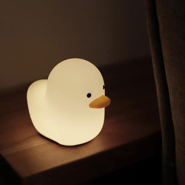 söt nattljus silikon mjuk beröringssensor djur anka ledde nära Duck