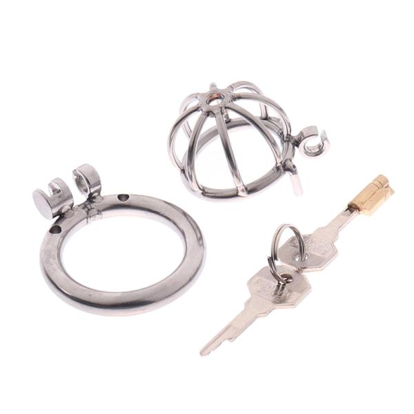 Rostfritt stål Metall Manlig Kyskhetsbur Enhetshållfasthet Spikad