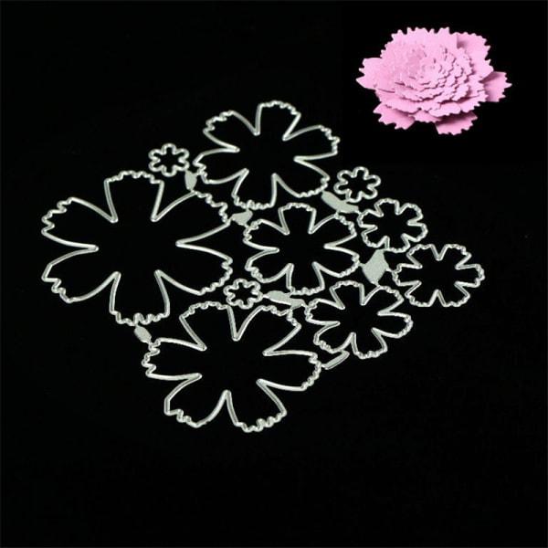 stereoskopiska blommor metallskärningsmunstycken för diy scrapbo