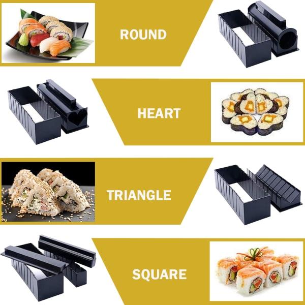 Sushi Making Kit för nybörjare-10 bitar Sushi Maker Tool