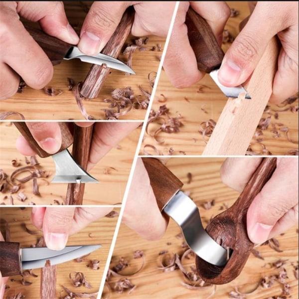 träsnideri verktyg manuell träbearbetning snidning knivar träskrapor 7pcs