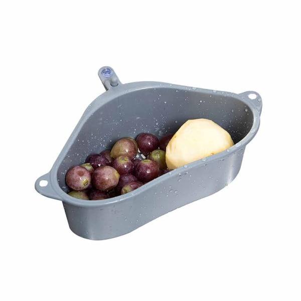 triangulär diskbänk sil frukt frukt grönsak dränering korg kök Gray