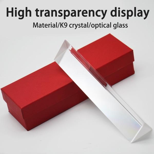 triangulärt prisma k9 optiska prismer glasfysikundervisning studen 100