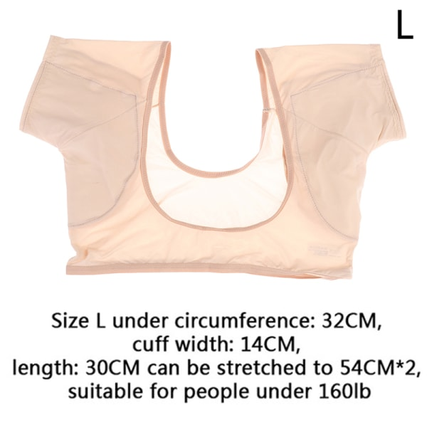 ultratunn t-shirt svett tvättbar armhåla svettkuddar under armhålan perfekt L