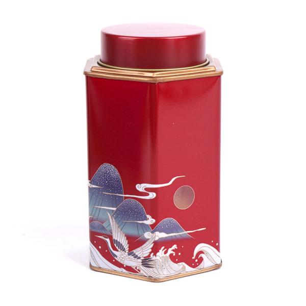 utsökt tennplåt godisburkar med inre tätningslock Red