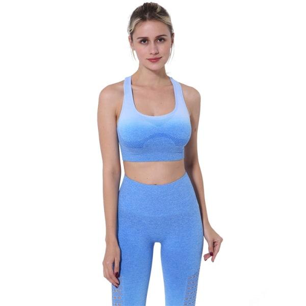 Kvinnors yogadräkt sport-bh Capris gradient utomhuslöpning Y