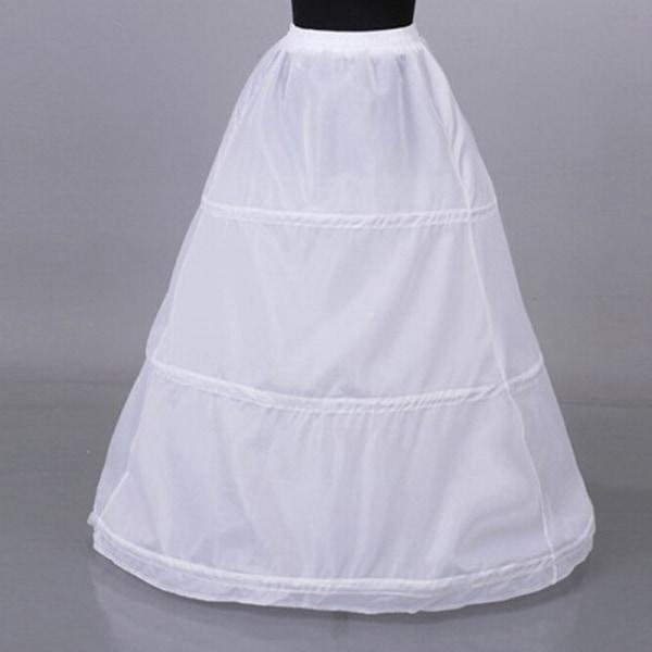 1Pc Kvinnor 3 hoop crinoline bröllopsklänning brudklänning petti