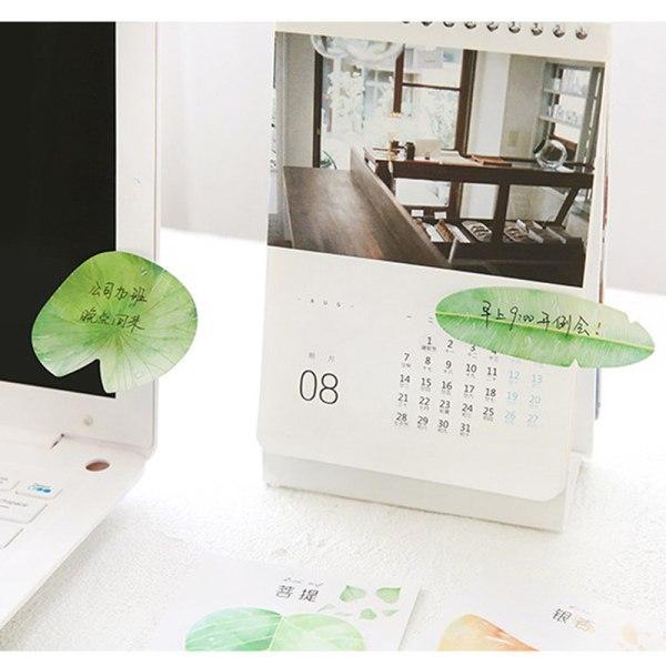 30Sheet söt naturlig växtblad klisterlapp anteckningsblock anteckningsmedlem