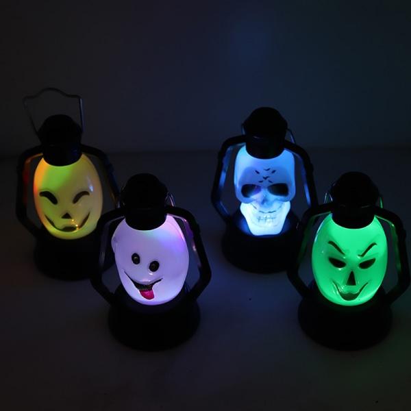 Halloween Lantern Skull Gradient Flashing Bar DecorationPortabl A