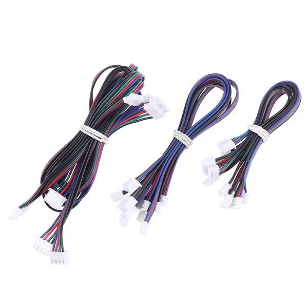 5st 3D-skrivardelar Stegmotorkablar 4pin till 6pin XH2.54