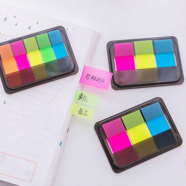 60 / 100st Fluorescens Sticky Notes Memo Flaggor Bokmärke Markör