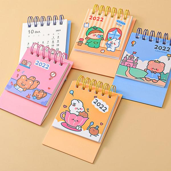 2022 kawaii Cartoons Bear Desktop Paper ins mini Calendar Sched B
