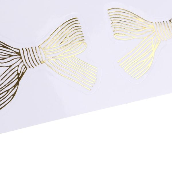 60st / mycket söt guld Bowknot transparent tätning klistermärke DIY hav