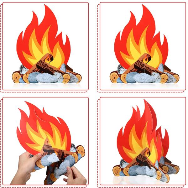 Rolig 3D Flame Cardboard Happy Halloween Party Decor för hem F 1