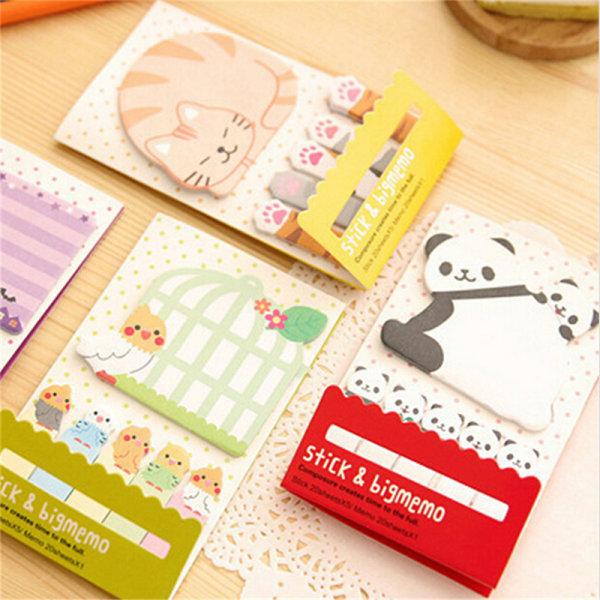 Animal Cat Panda Cute Kawaii Memo Sticky Notes Planner Stickers