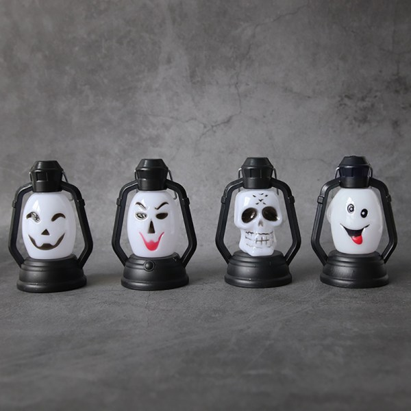 Halloween Lantern Skull Gradient Flashing Bar DecorationPortabl C