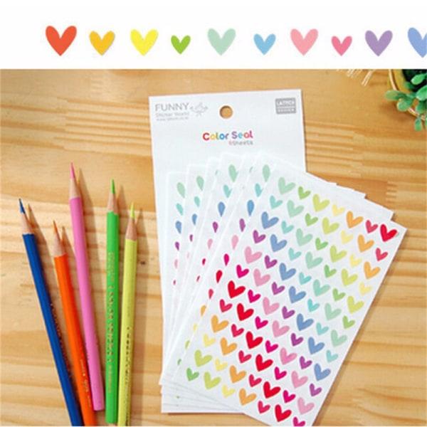 Färgglada stjärnklistermärken för skolbarnlärare R