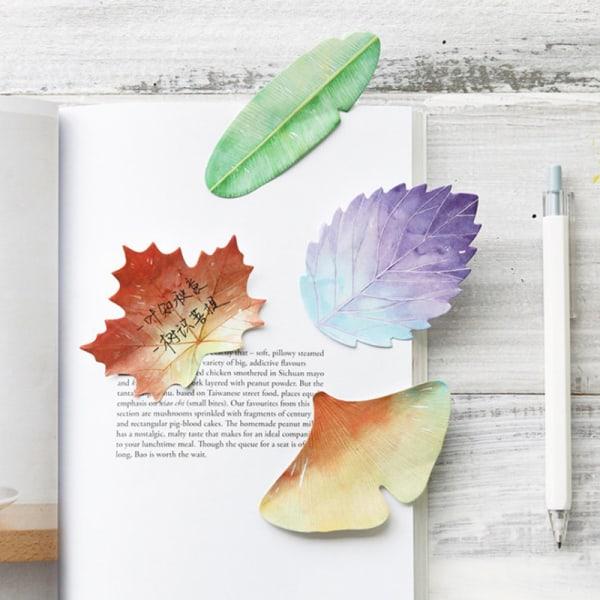 Söt flerfärgad växtform Bokmärke Sticky Note Flaggor Memo Pad