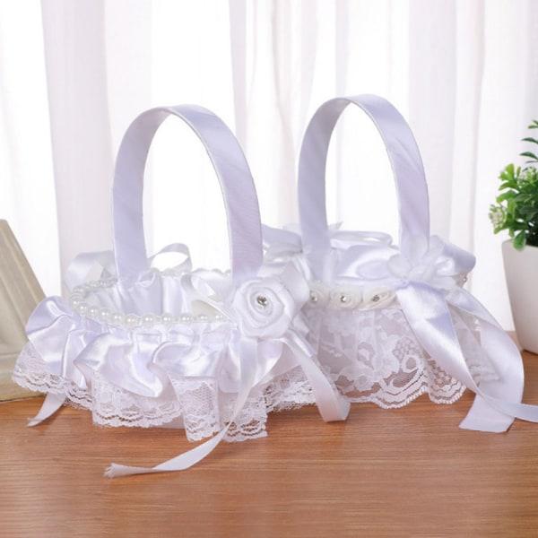 Eleganta bröllopstillbehör Blomkorg Simulering kronblad Party