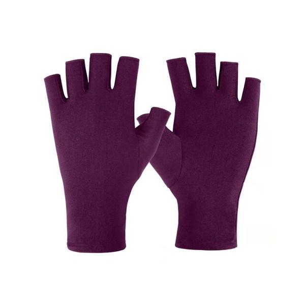 1 par nya mjuka och lätta fingerlösa anti UV -strålningsskydd Purple