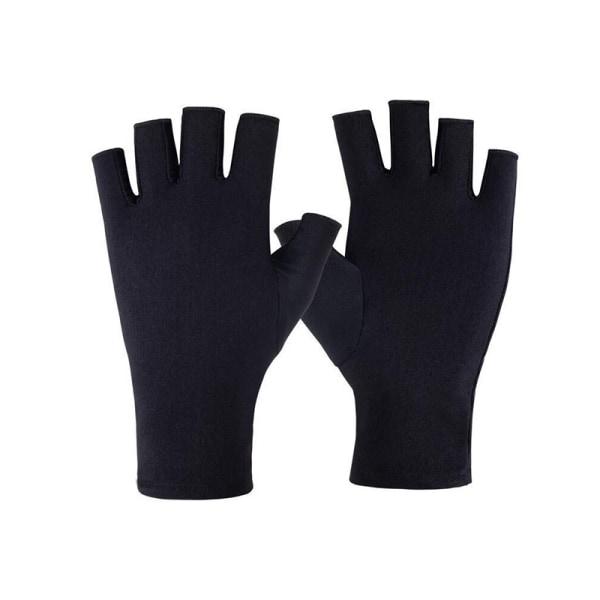 1 par nya mjuka och lätta fingerlösa anti UV -strålningsskydd Black