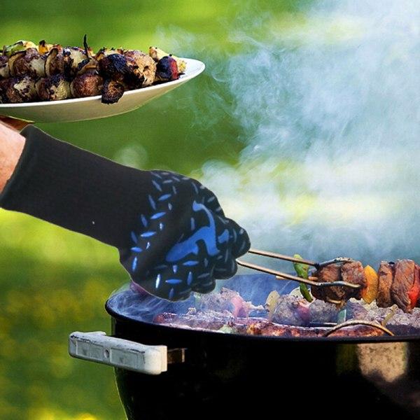 Fire BBQ-handskar Hög temperaturbeständig ugngrill Workin