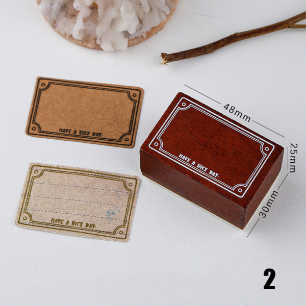 ram gräns grund etikett stämpel DIY trä gummistämplar statione 2