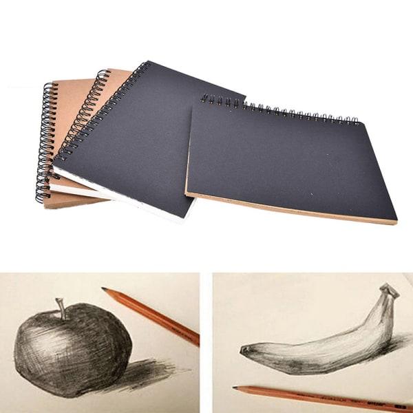 Reeves Retro Spiral Bound Coil Sketch Book Tom Notebook Kraft