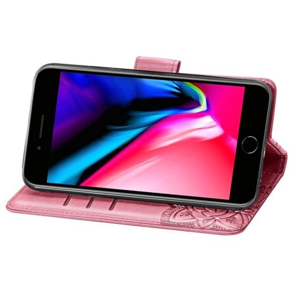 iPhone SE (2020) Plånbok Fjäril Rosa Rosa