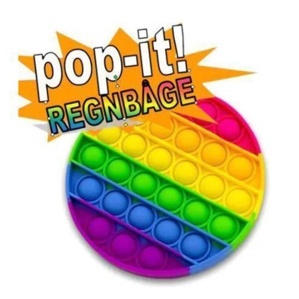 2 -pak Popit Fidget Pop It Rainbow - CE -godkendt 2st kvadratiskt