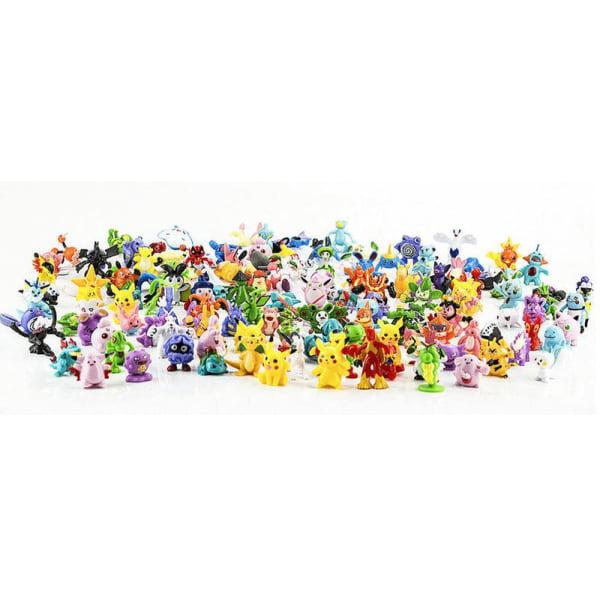 96 stk. Søde farverige Pokémon -figurer Pokemon indeholder Pikachu