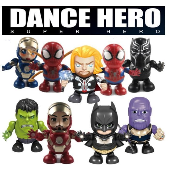 Marvel Heroes Dance Hero 8 stk modeller  Iron man Röd