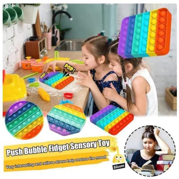 Popit Fidget Pop It Rainbow Round - CE -hyväksytty