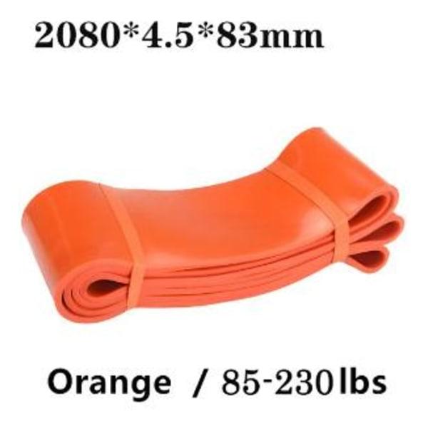 Træningsstropper Modstandsremme Gummistropper-Powerbands-Orange