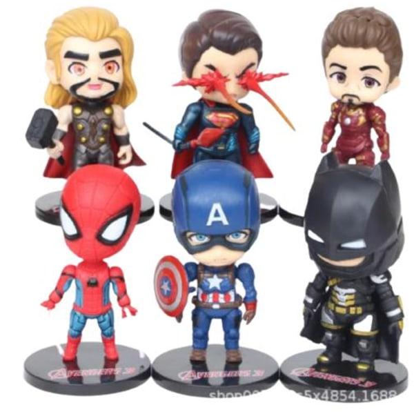 6 kpl Marvel Avengers Heroes -hahmoja