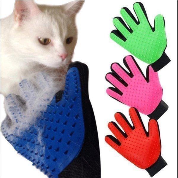 True Touch - Børstehandske - Hund - Kat Højre hånd - Pink- Fri F