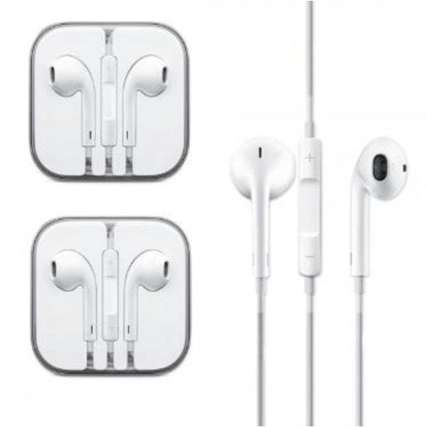 2 -pak hovedtelefoner med mikrofon og lydstyrkekontrol til iOS og Android
