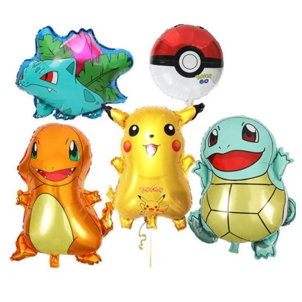 5 Pack Pokemon Pikaqiu Aluminiumballong FOLIE BALLONG 50-60 CM