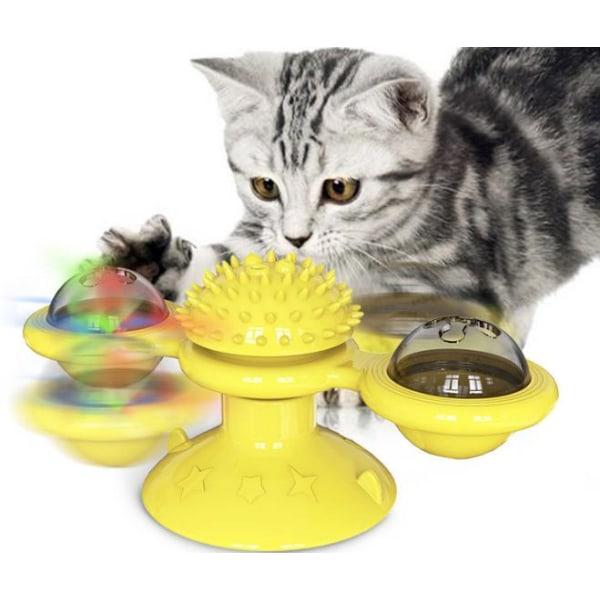 Vindmølle Legetøj til katte Puzzle hvirvlende drejeskive legetøj