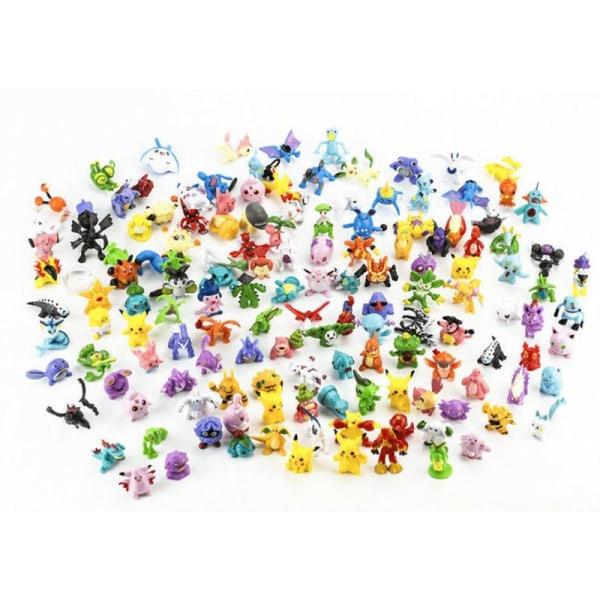 144x søde og farverige Pokémon -figurer (BIG PACK)