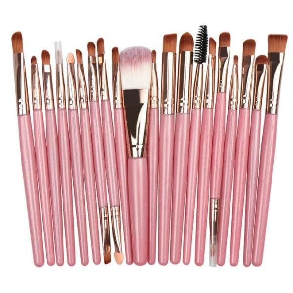 20kpl luomiväriharja Smokey-Eye Brush Set- Pinkki