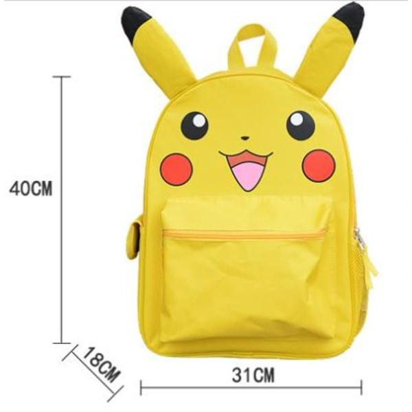Pokemon Pikachu Ryggsäck skolväska - PIKA PIKA Gul