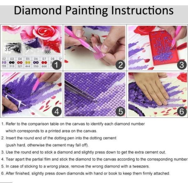 5D Diamond Painting Landskap- 4 modell Model 1
