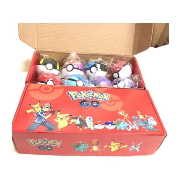 8 sæt Pokéball + 8 sæt Pokemon -figurer + 8 sæt bas bedste fødselsdag