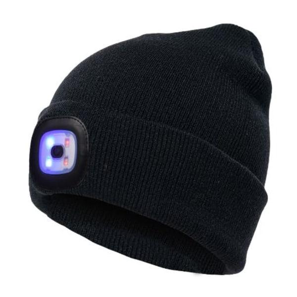 Ledsavers Mössa med LED-lampa 5 Fäger - julklappar Black Camouflage Mörblå+Svart