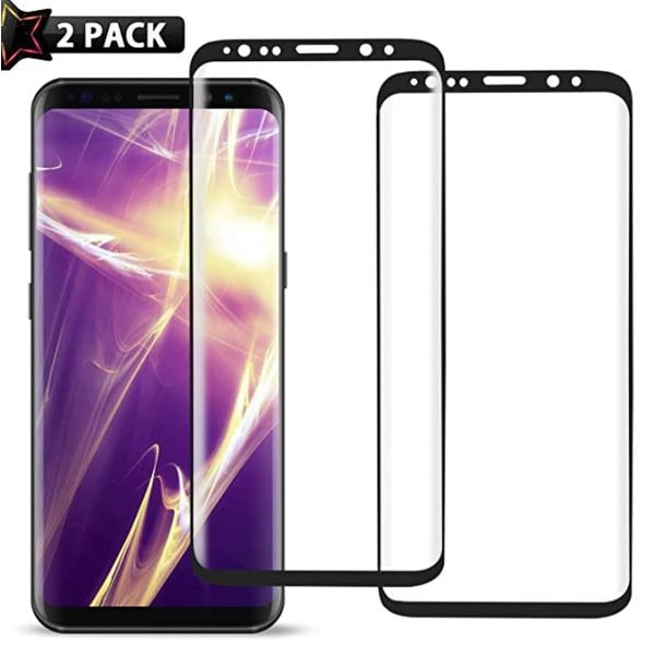 2 st top kvalitet  heltäckande skärmskydd för  Samsung S8 Transparent