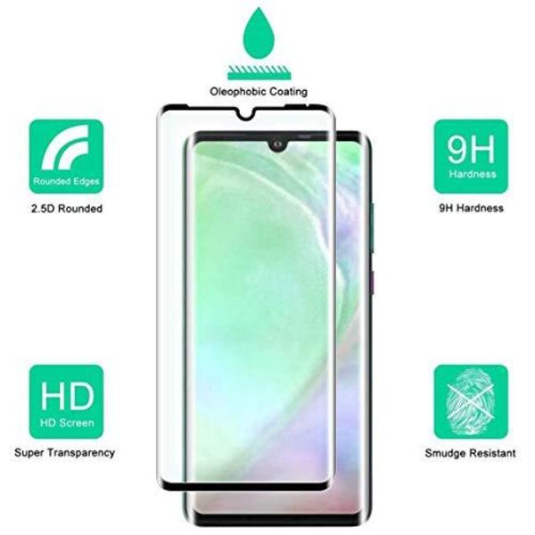 2 st full glue skärmskydd för Huawei p30 pro Transparent
